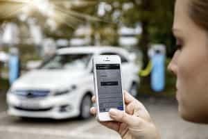 App für Elektroautos von Mercedes