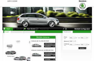 Website Skoda Octavia Combi