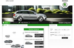 Website Skoda Octavia Combi