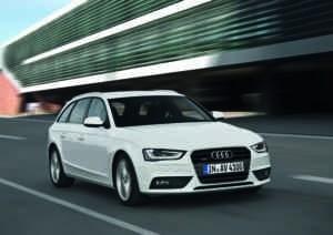 Der Audi A4 Avant in Weiß