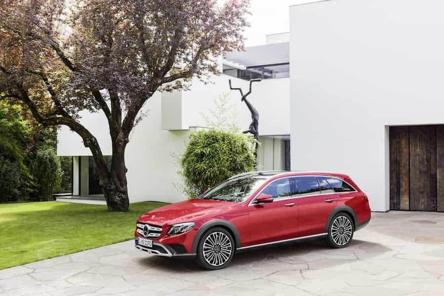 Leichtmetallräder von Mercedes-Benz am E-Klasse All-Terrain: 12-Speichen-Rad, 48,3 cm (19 Zoll)