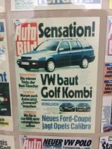 VW Golf Kombi Auto Bild