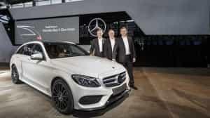 Stolz des Vorstand: Die neue C-Klasse bei Mercedes