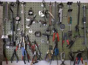Werkzeug in der Autowerkstatt